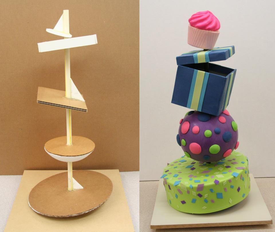 how to make a topsy turvy cake stand