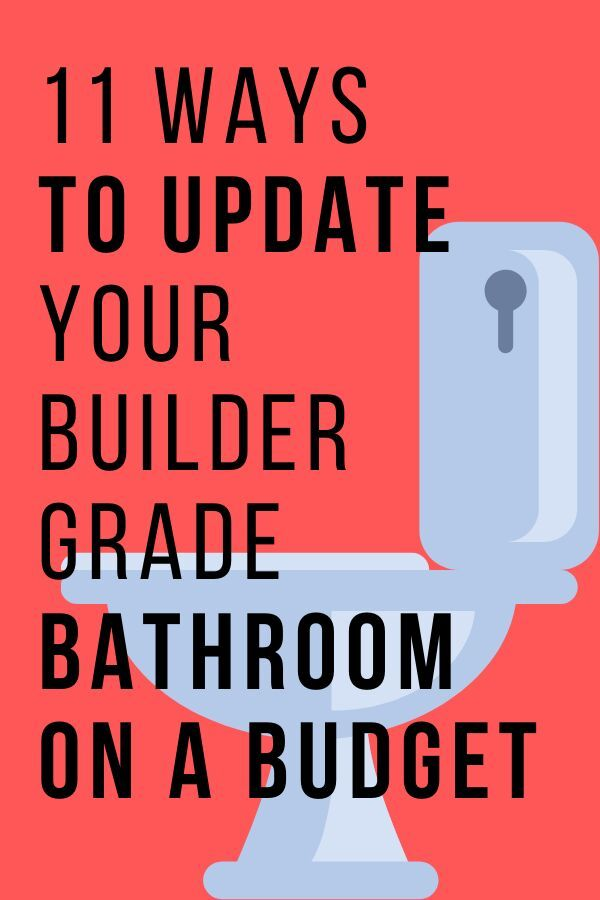 Check out these easy and cheap ways to makeover your builder grade bathroom. These