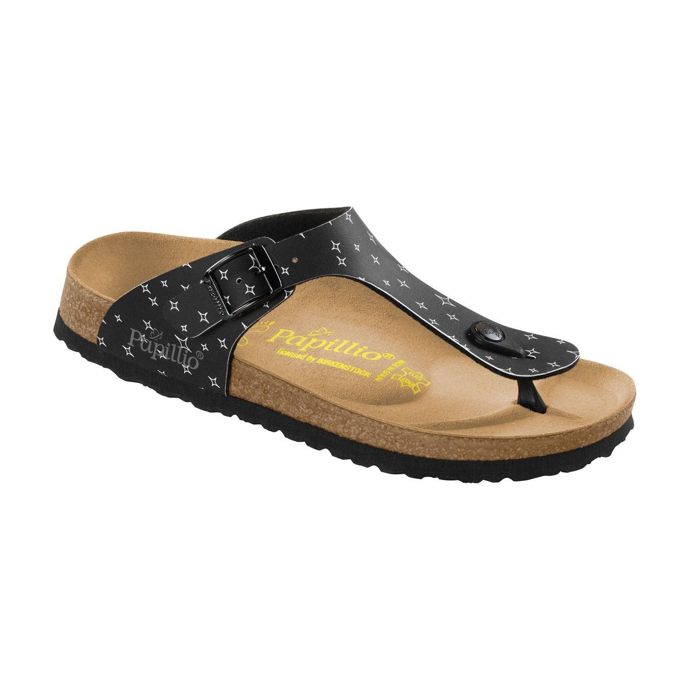 #Ch9XnVgY0Y Gizeh Black Birko-Flor Patent Womens Leather Sandals