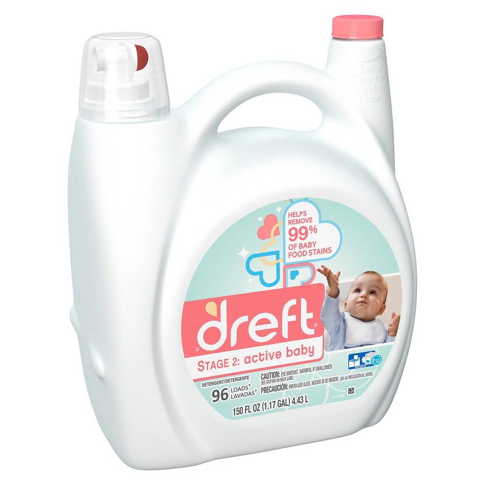 Dreft Stage 2 Active Baby He Compatible Liquid Laundry Detergent