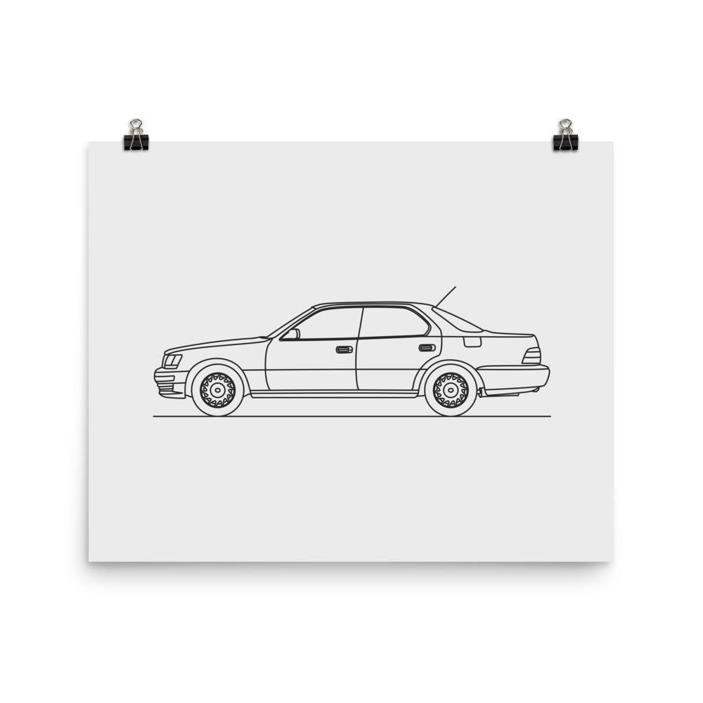 Ls minimal line art matte paper products