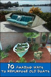 10 amazing ways to repurpose old boats  Nauticle Fence Colors