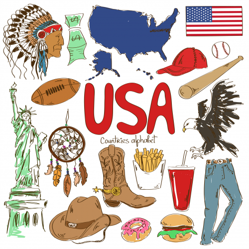 USA Culture Map Printable Usa culture Geography and Worksheets