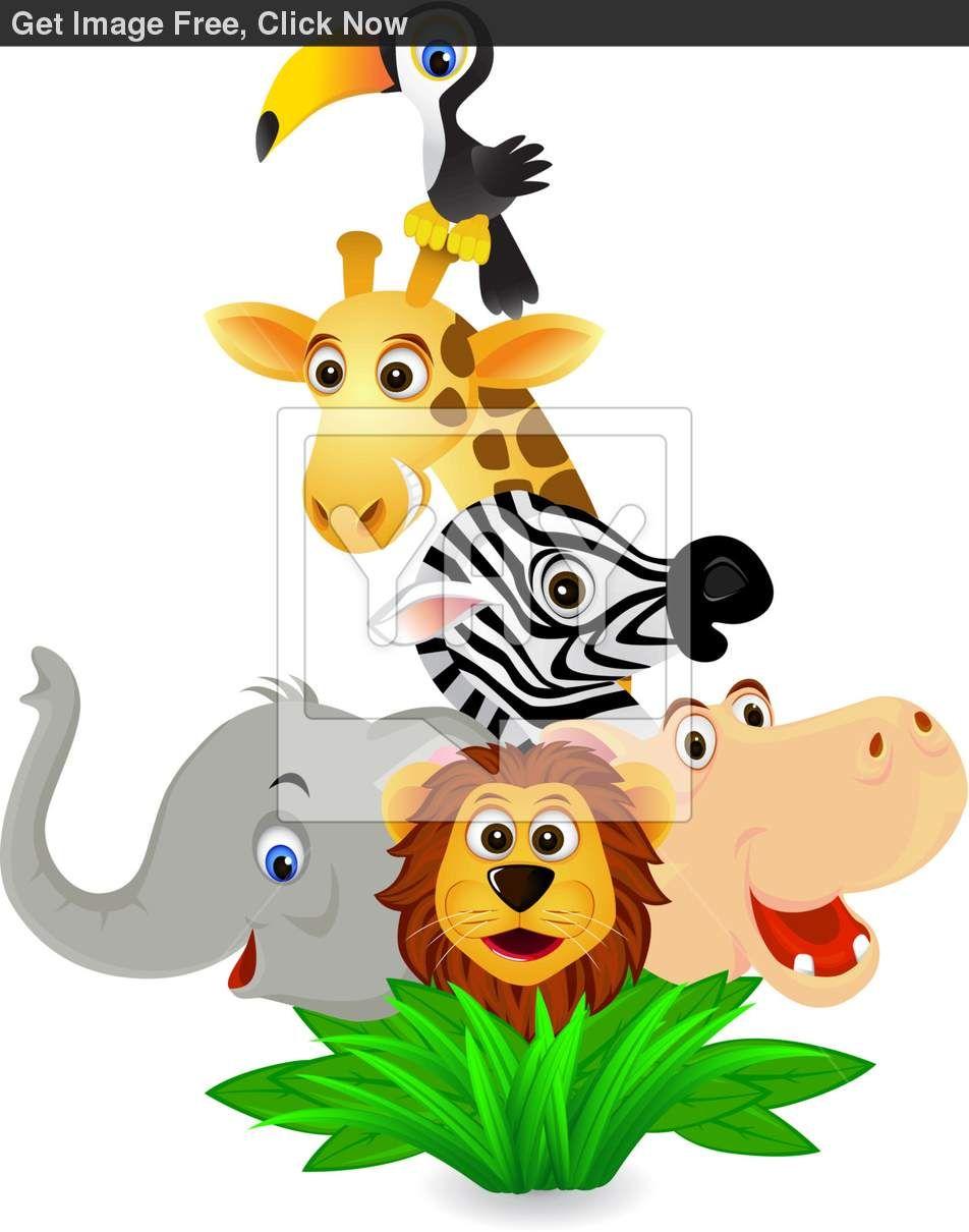 cartoon safari animals clip art 1553817 jpg 952 1210 paintings rh pinterest co uk free jungle safari clipart free jungle safari clipart