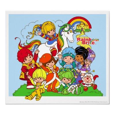 Rainbow Brite Her Friends Poster