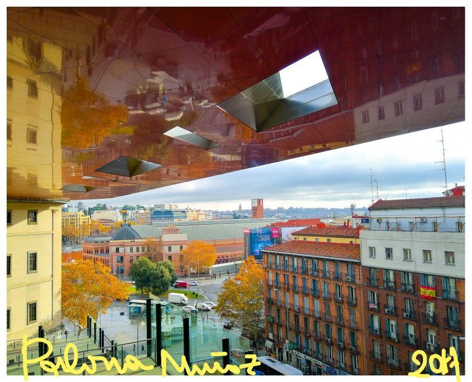 Vista De La Estación De Cercanías De Atocha Desde La Terraza