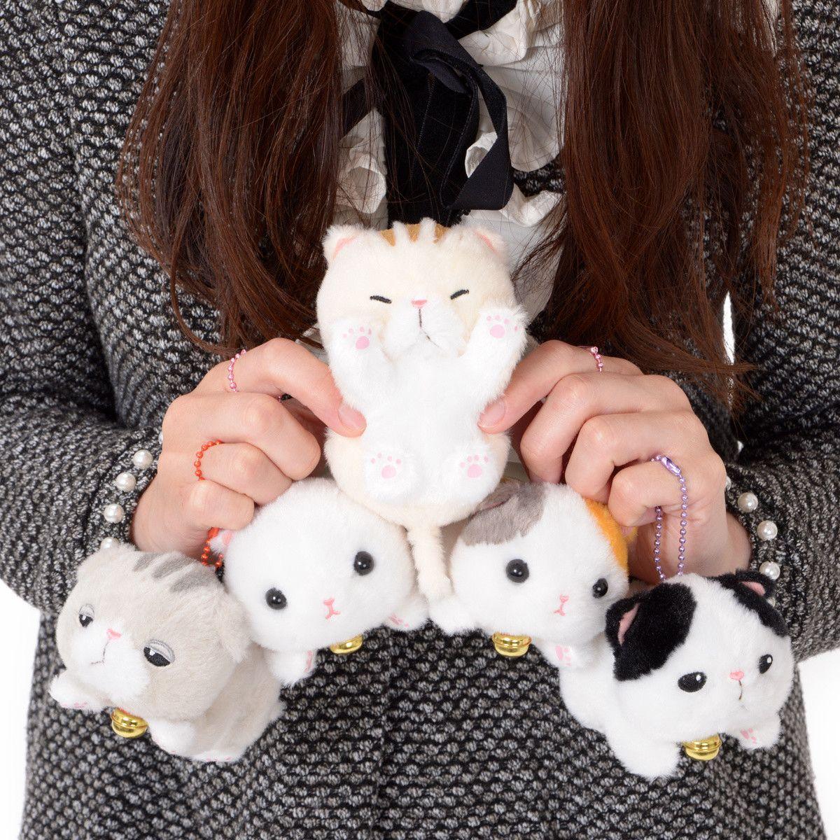 Utatane Munchkin Cat Plush Collection Ball Chain Cat Plush Munchkin Cat Cute Stuffed Animals