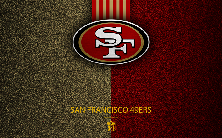 Download Wallpapers San Francisco 49ers 4k American Football Logo Leather Texture San Francisco California Usa Emblem Nfl National Football League We San Francisco 49ers San Francisco 49ers Football 49ers