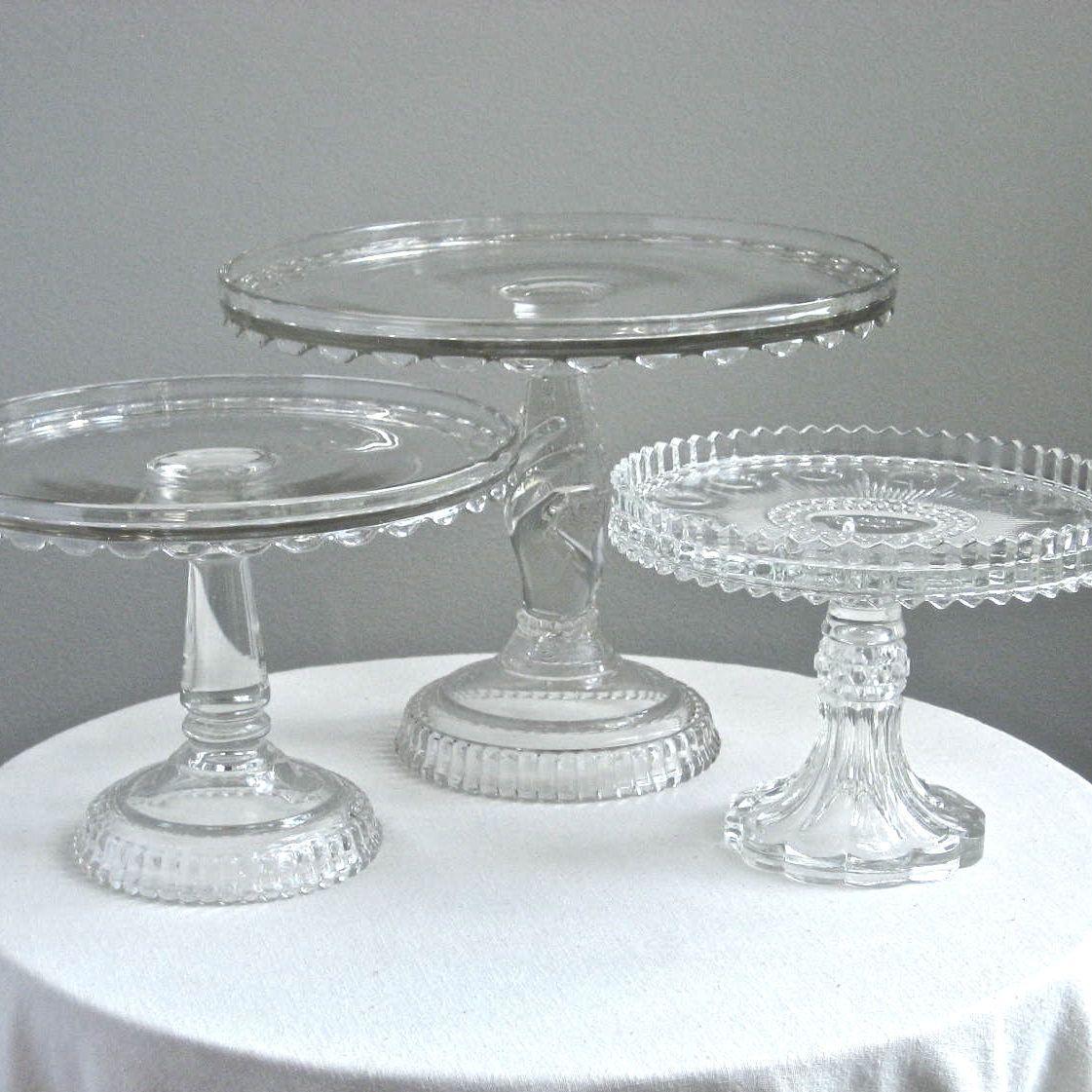 Jeni Sandberg   Barking Sands Vintage: Vintage Wedding Cake Stands    Victorian Glass, Milk