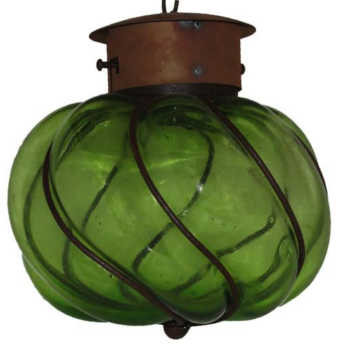 Churumbela Mexican Green N Gl Outdoor Lantern