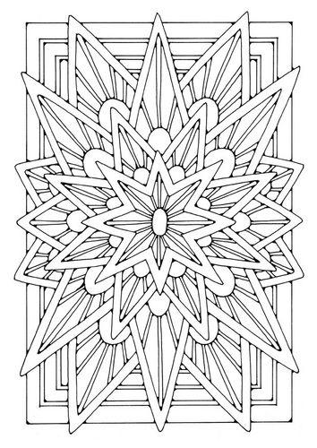 ☮ American Hippie Art ~ Coloring page mandala - star | Coloring ...