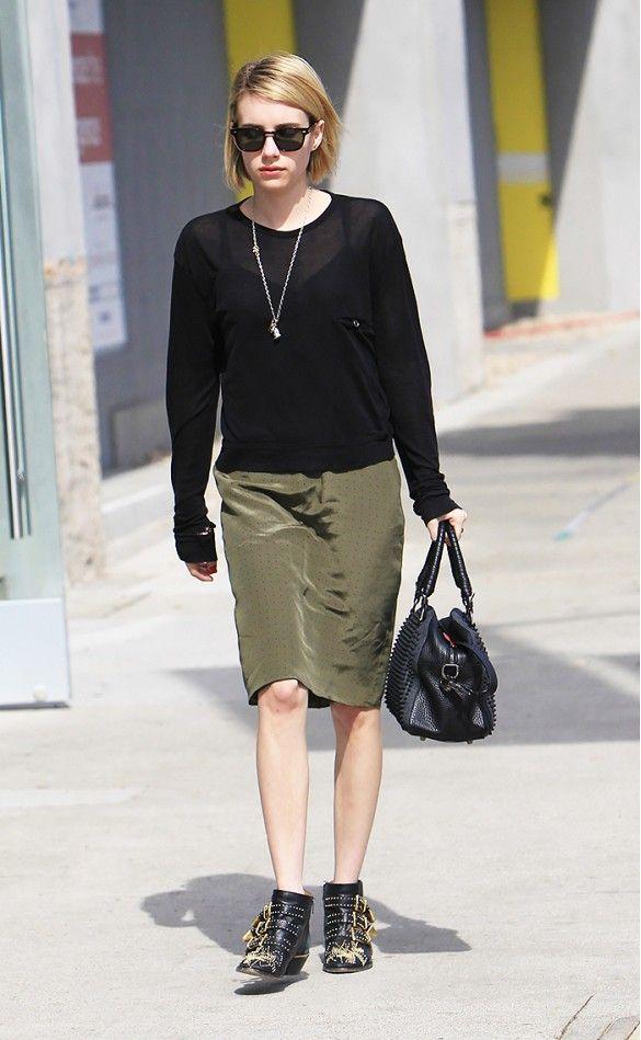 f081eb44dce Emma Roberts in Chloe Susanna Boot