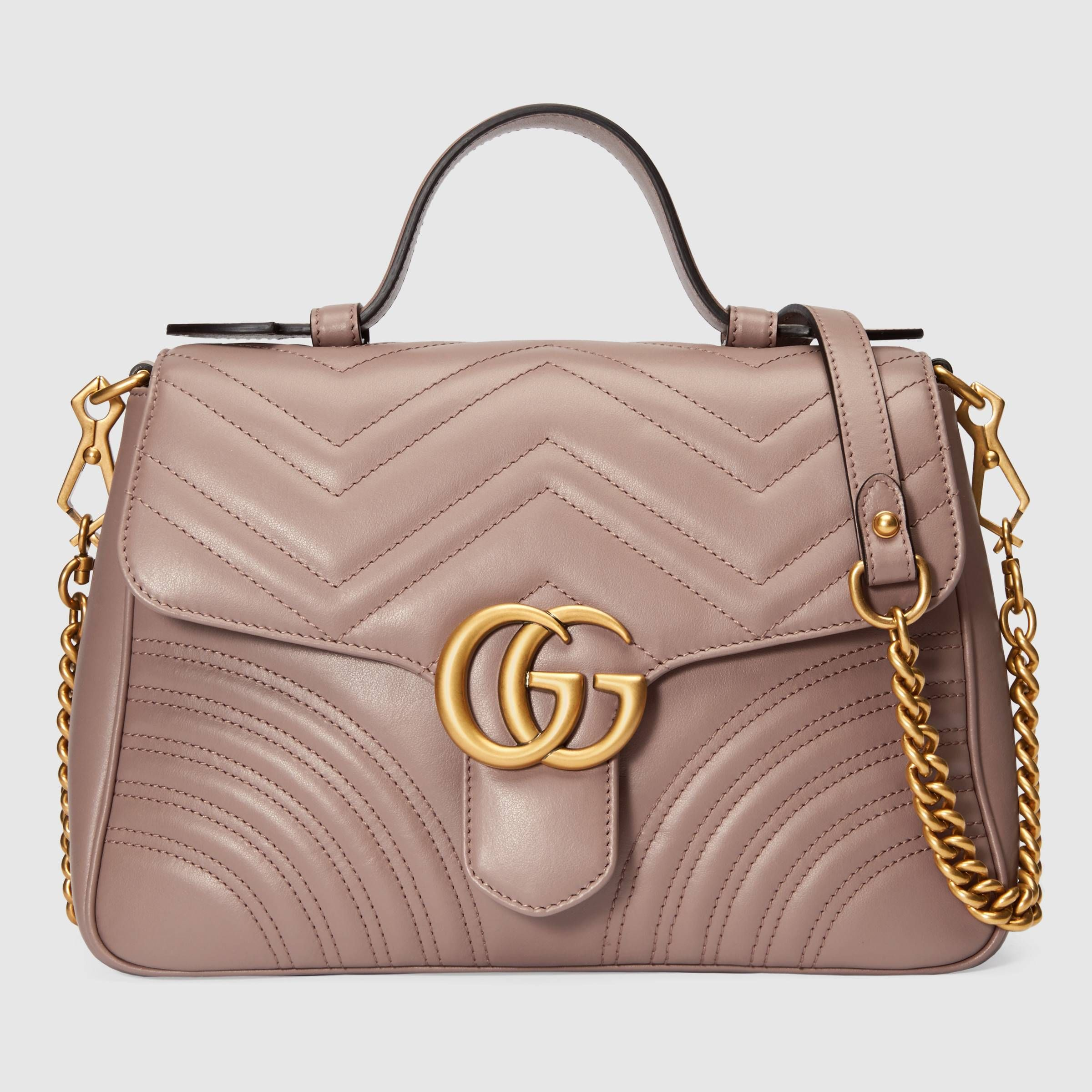 GG Marmont small top handle bag - Gucci Women's Top Handles & Boston Bags  498110DTDIT5729   Women handbags, Top handle bag, Bags