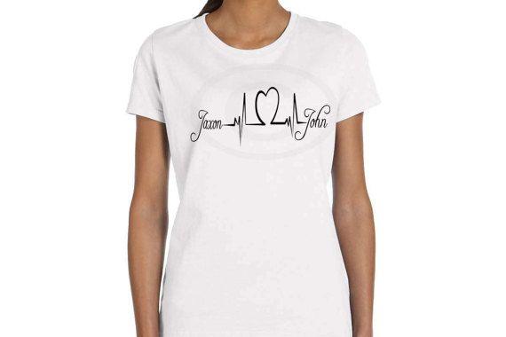 f90f12b2422de Mothers Day shirt Personalized Tattoo shirts inspired heartbeat kids ...
