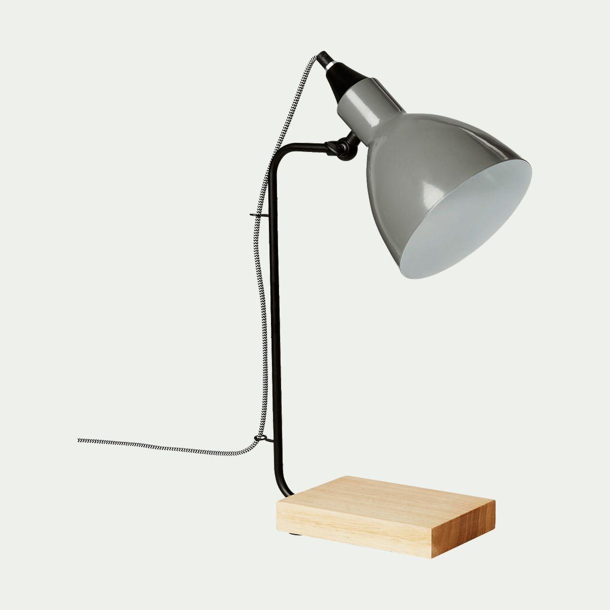 Bois Et Lampe De 2019 H45cm Métal Bureau Gris Alinéa En I2DH9E