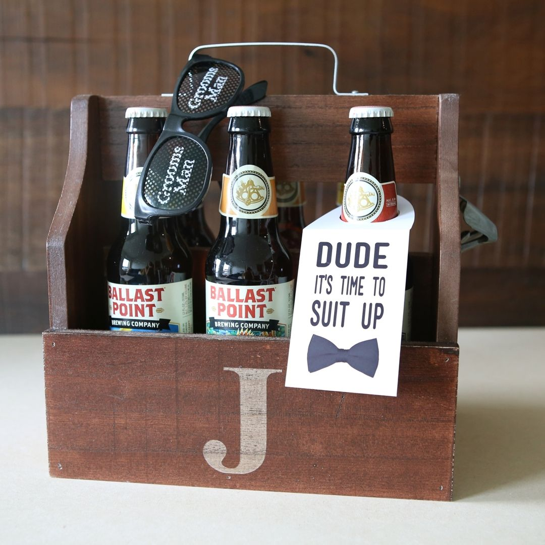 "Groomsmen Wedding Gift: You HAVE To See This DIY ""Will You Be My Groomsmen"" Beer"