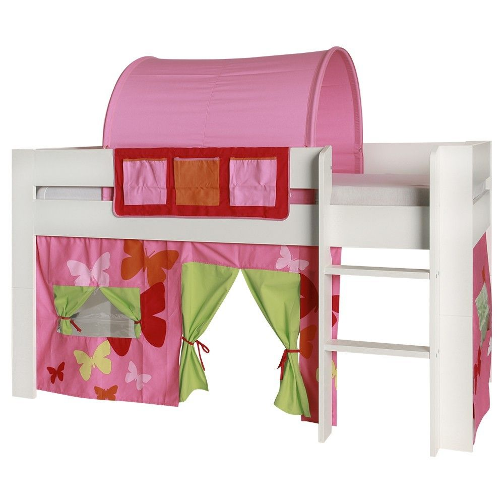 Loft bed with slide and tent  KIDS World Tunnel In Pink  The Kids World Tunnel in a variety of