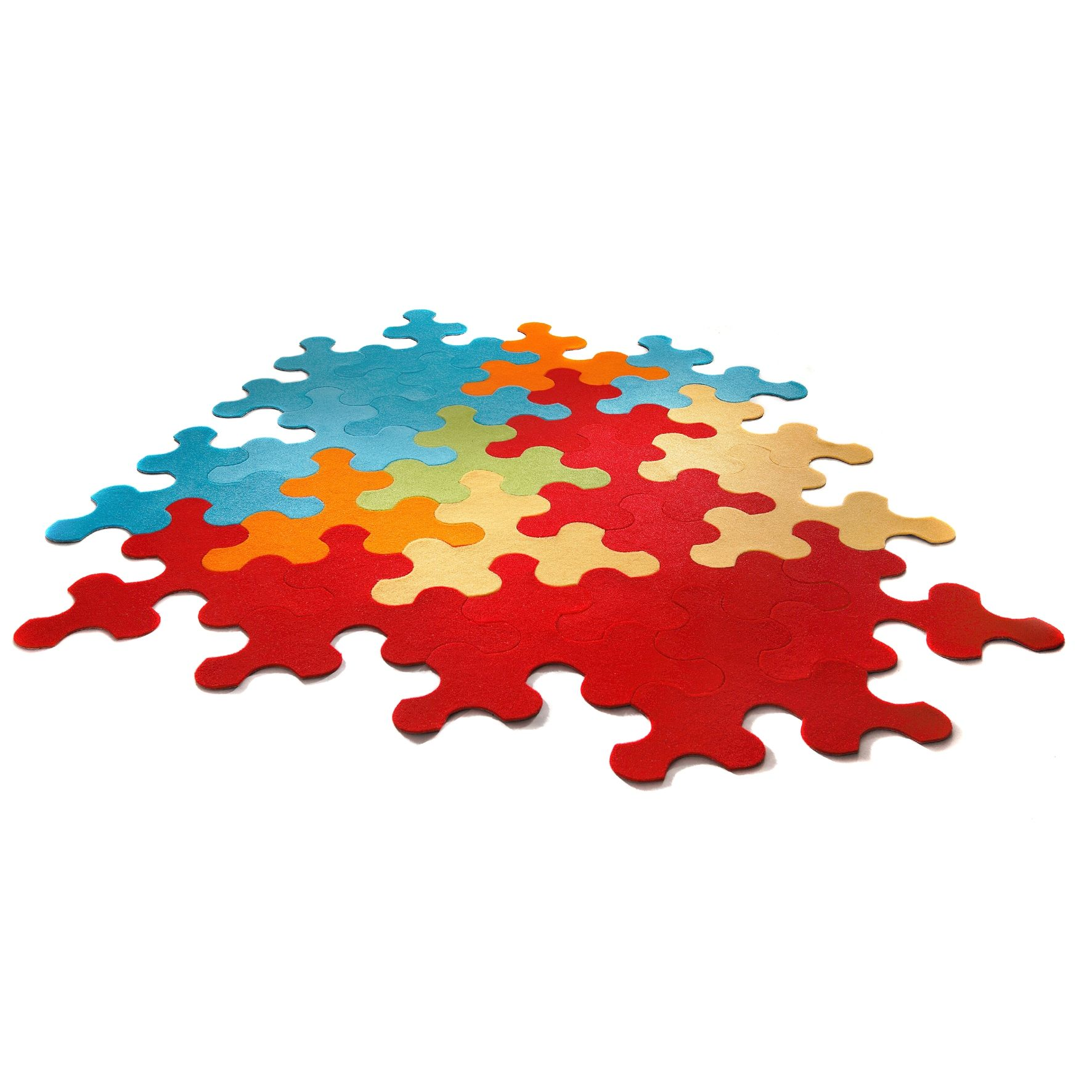 Puzzle Rug Imperial Interlocking Carpet Tiles Shaped Like Jigsaw Pieces 10 To A