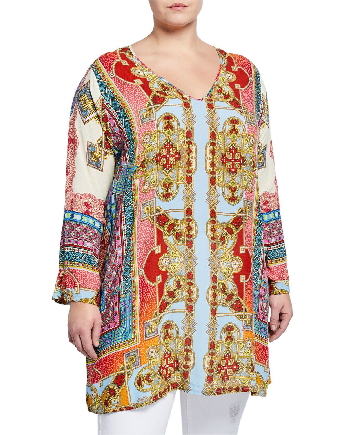 71fb4e1cebb Johnny Was Afterglow V-Neck Tunic, Plus Size In Multi | kimono in ...