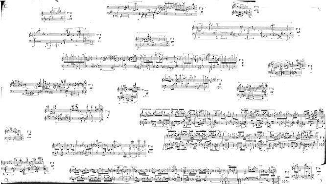 Stockhausen, Klavierstück XI (a set of fragments for the performer ...