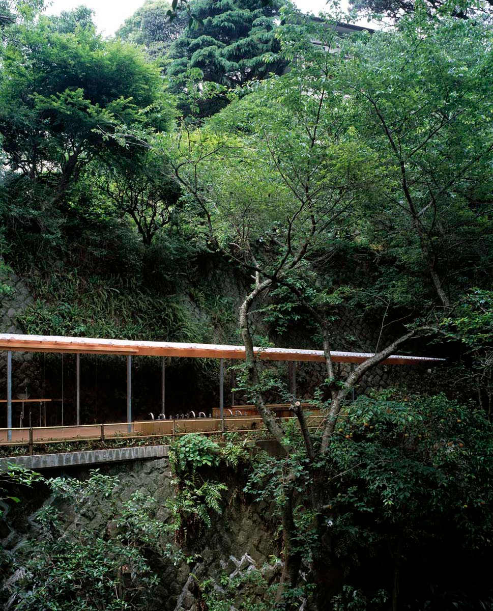 Horai Onsen Bath House 蓬莱 古々比の瀧 モダンガーデン 建築