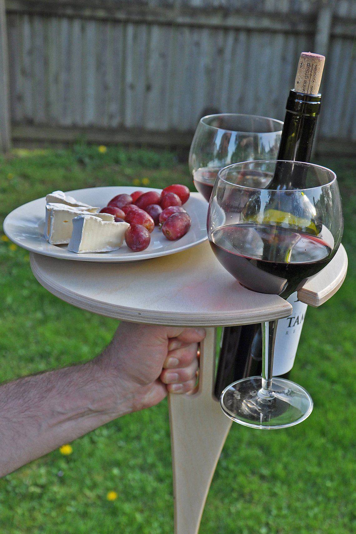 Outdoor Wine Table Folding Wine Table Wine Lover Gift