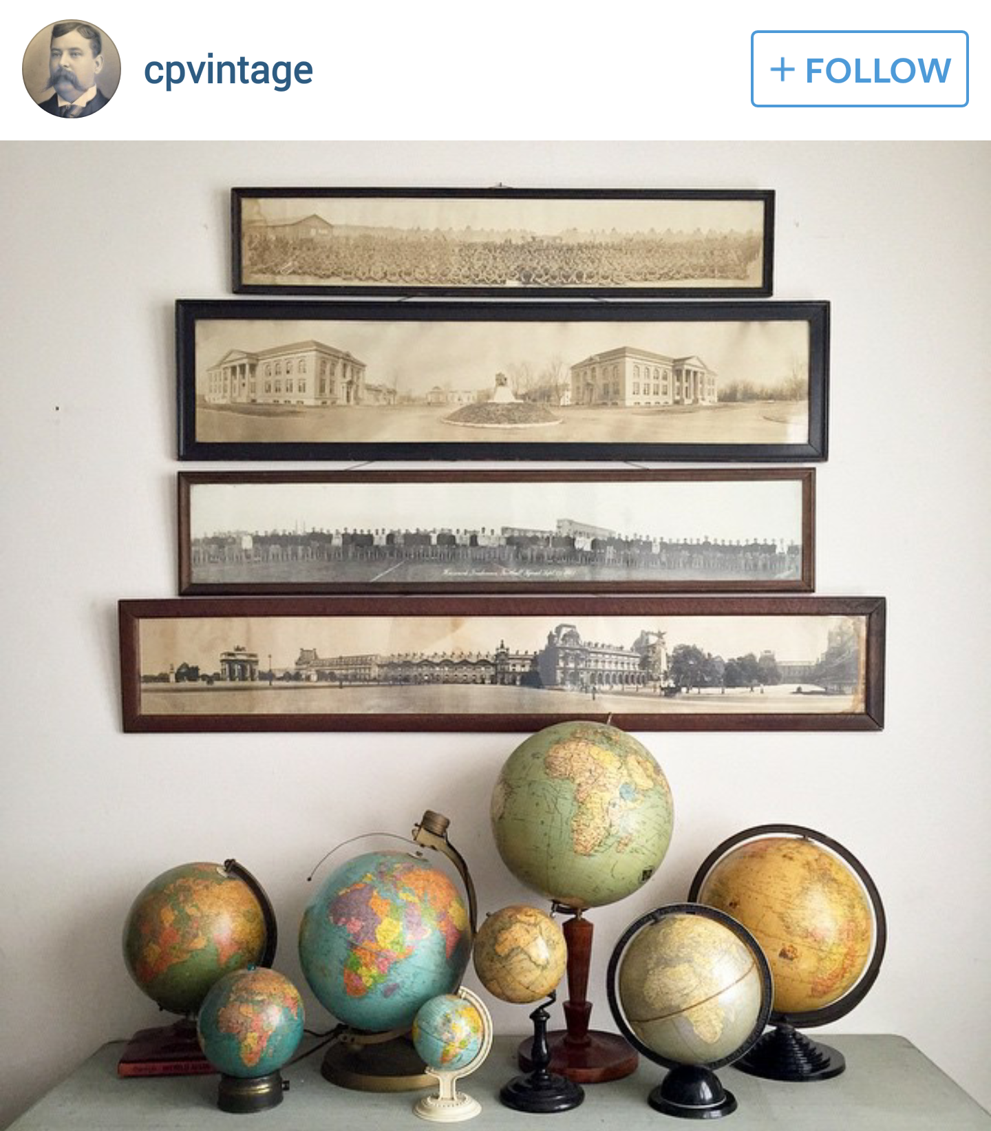 Vintage World Globe Collection / Home Decor | Globes in Your ...