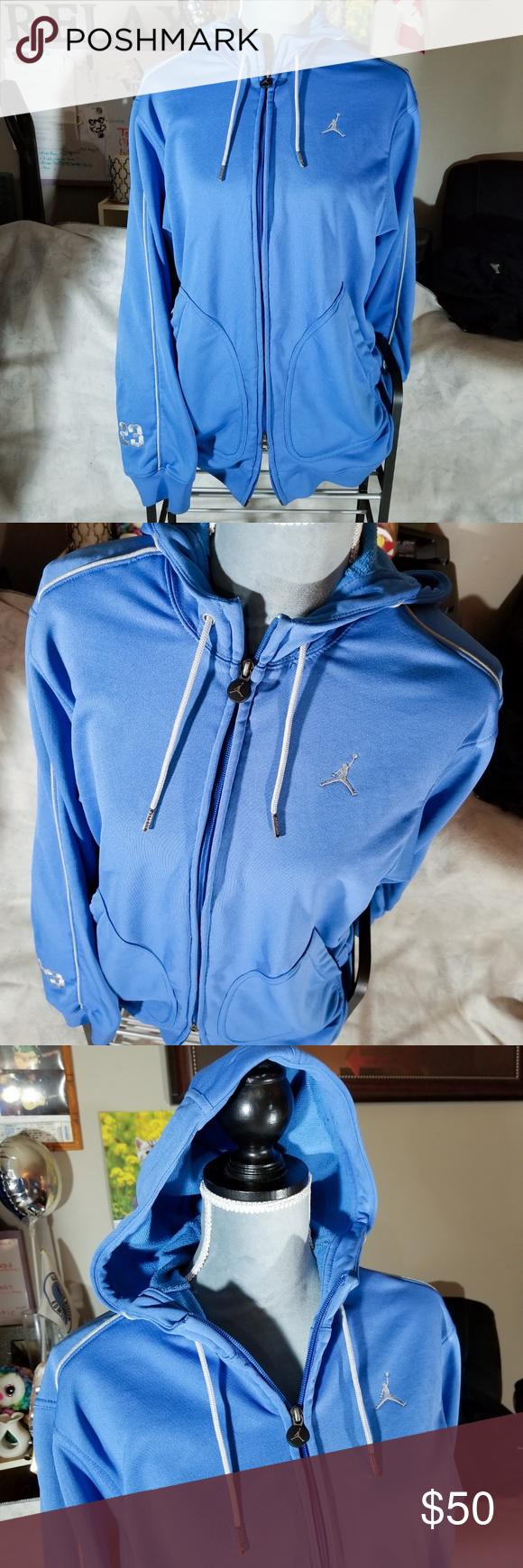 Air Jordan Baby Blue L/S ZipUp Sweatshirt Hoodie