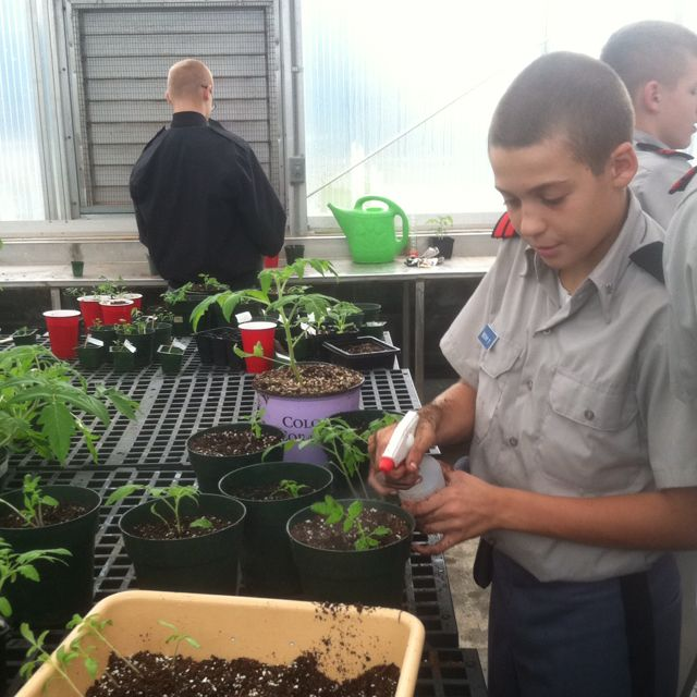 Hargrave Military Academy boasts an intriguing array of facilities from a natatorium to a greenhouse for classroom use. #MilitarySchool #HandsOnLearning
