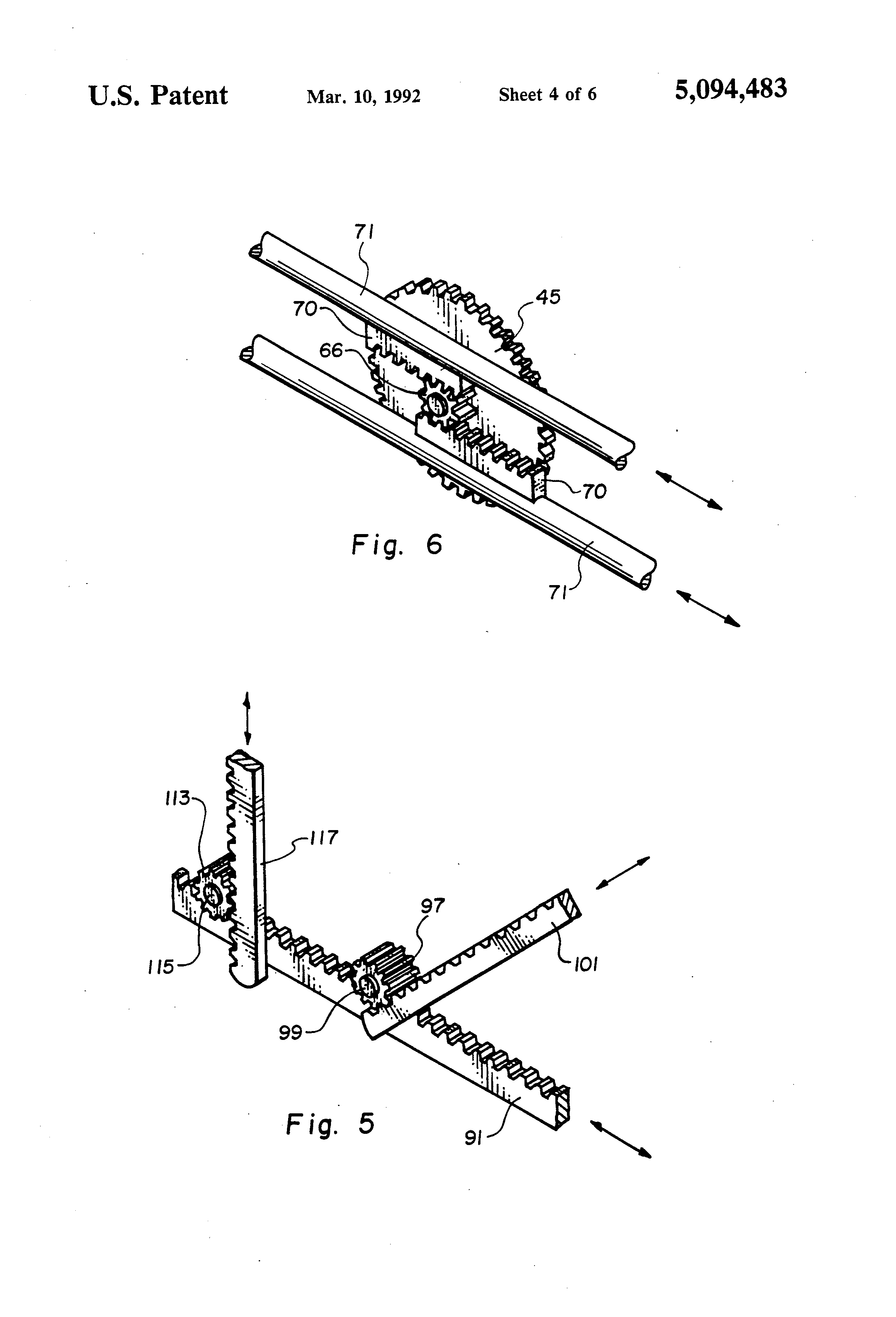 Patent Us5094483 Locking Mechanism For A Safe Door