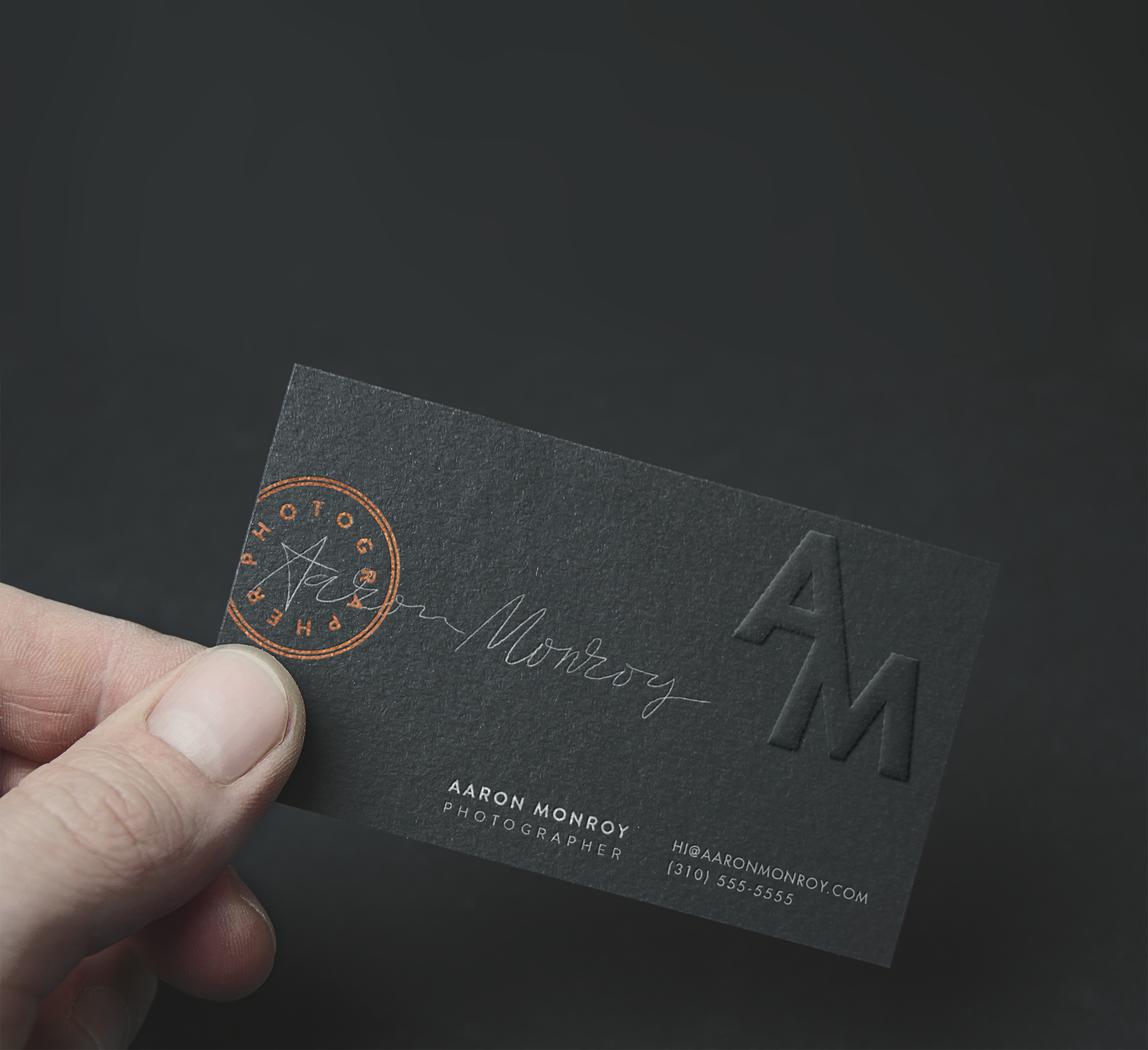 Aaron Monroy Photography Business Card Design by Emmy de Leon Jones ...
