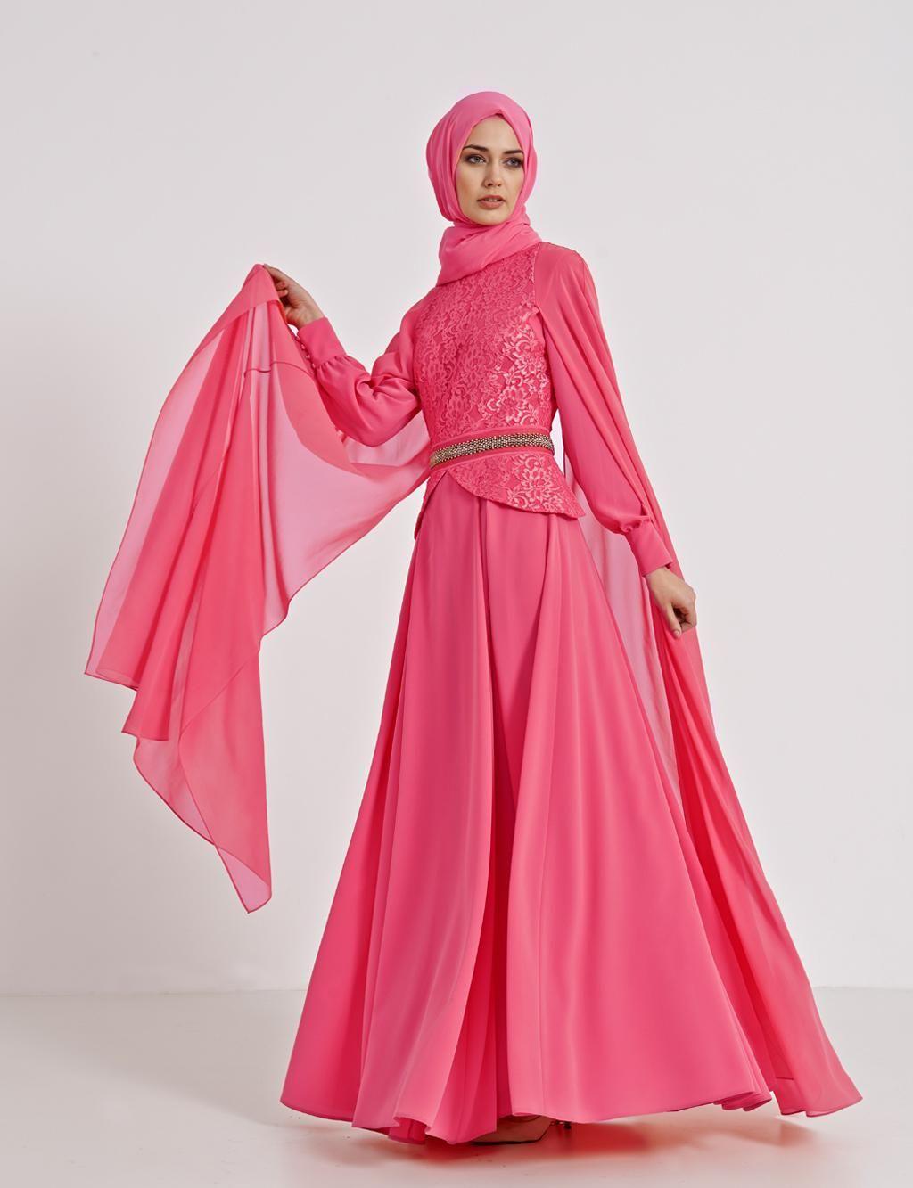Related pictures armine tak elbise tesett abiye modelleri - Kayra Online B4 23028 Dress Light P Nk