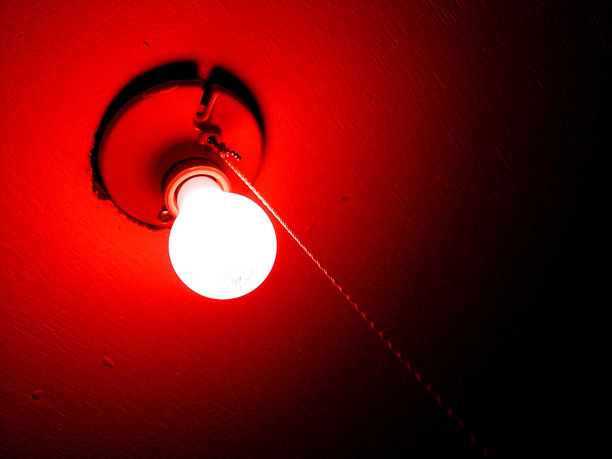 Dark room with light bulb - Red Light Bulbs Room Design Inspiration 911321 Light Of Lamp