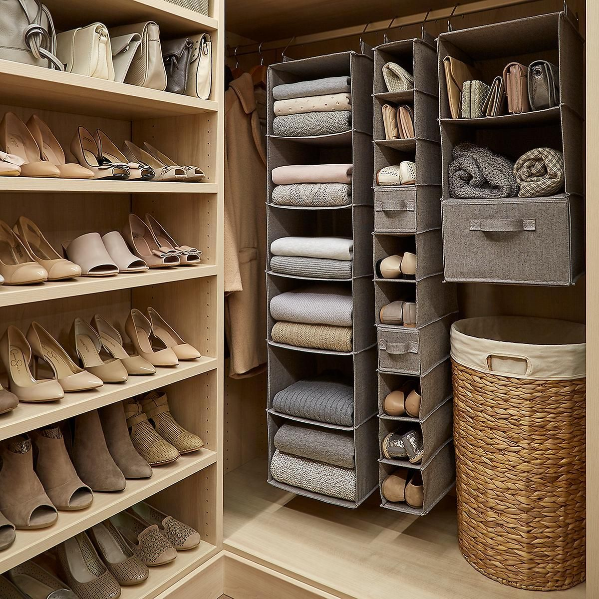 Hanging Closet Organizers Are A Great Way To Make The Most Of The Vertical Space In You Apartment Closet Organization Shoe Organization Closet Closet Apartment
