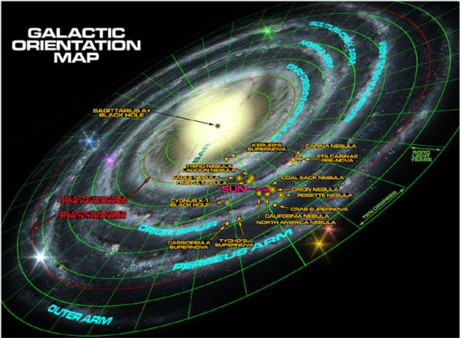 Incredible Detailed Maps of the Galaxy by Winchell Chung