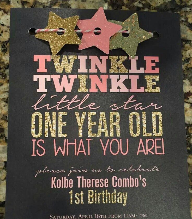 First Birthday Invitations, Birthday
