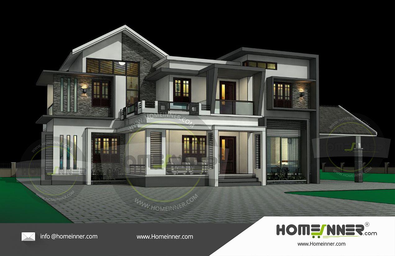 2700 Sq Ft Kerala Style 3d Exterior Elevation Architectural Design Thiruvananthapuram Architecture Architectural House Plans Architecture Design House Design