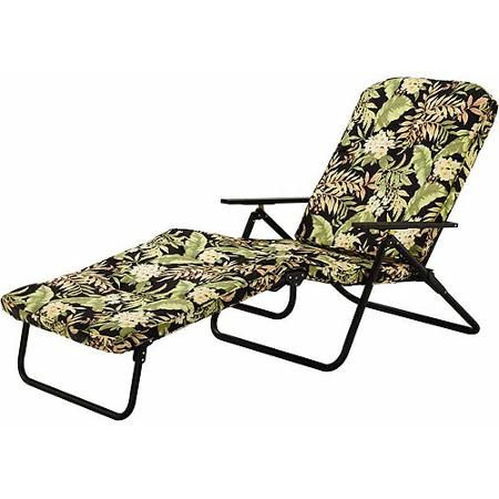Genial Mainstays Padded Folding Chaise Lounge, Multiple Colors