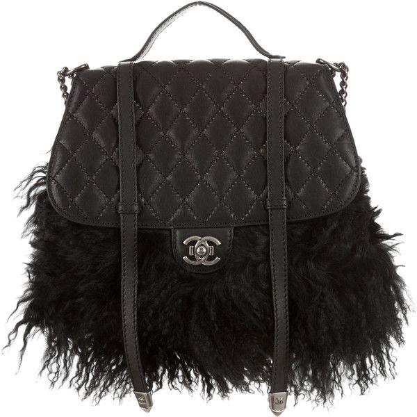 Pre Owned Chanel Paris Dallas Fur Fringe Double Flap Bag 8 695 Bam Liked On Polyvore Featuring Bags Handbags Zipper Handbag Purse