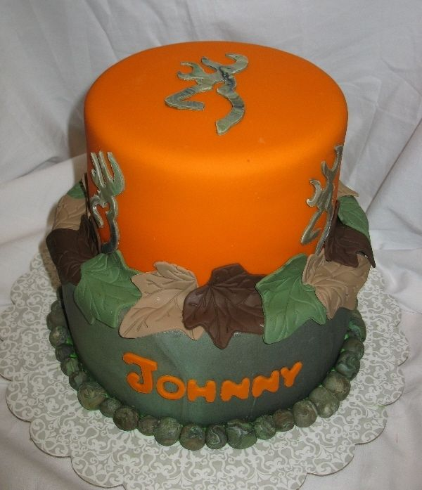 Browning Cake Browning Symbol Cut Out With Xacto Knifecamo