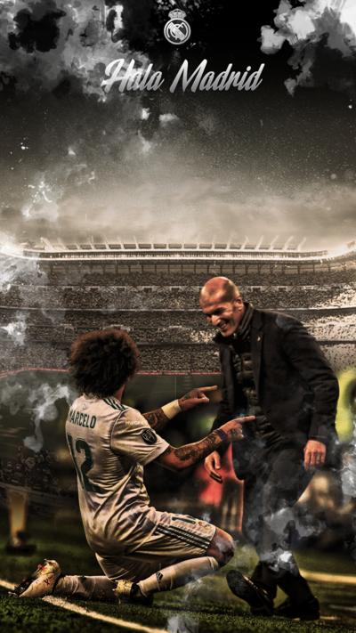 Marcelo And Zidan Wallpaper Hd Phone By Mwafiq 10 Madrid Wallpaper Real Madrid Madrid