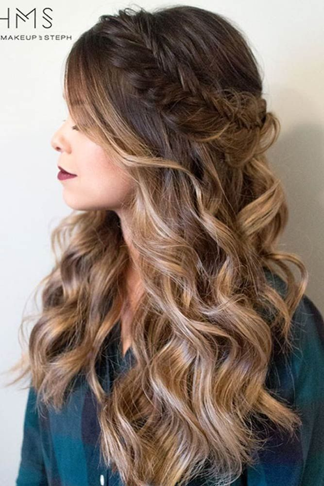 Try 42 Half Up Half Down Prom Hairstyles Prom Hairstyles For Long Hair Long Hair Styles Homecoming Hairstyles