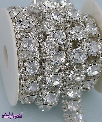 XR180-slcr XR180 Crystal Clear Rhinestone Trim Silver Beaded 1