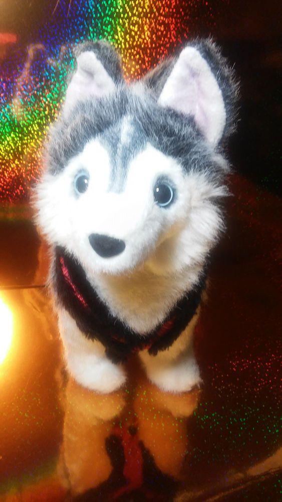 Husky White Siberian Alaska Innuit Sled Dog Winter Plush Stuffed