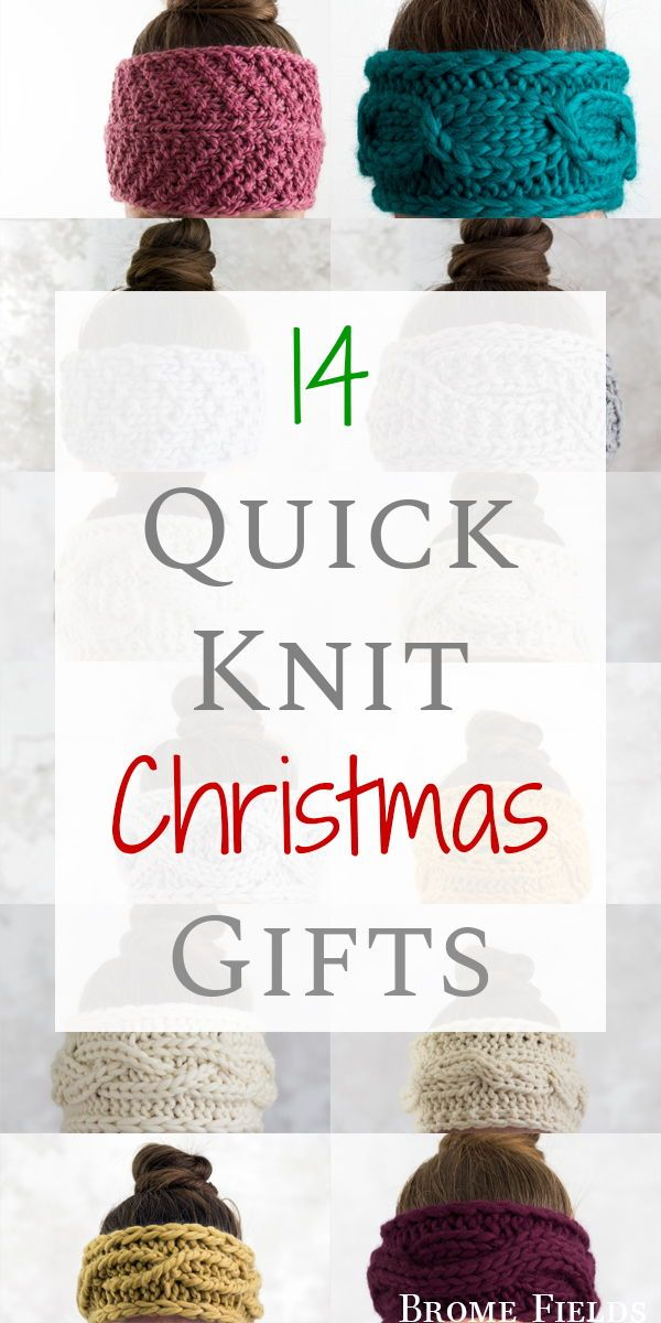 Get 14 Quick Knit Christmas Gifts! #knitheadbandpattern