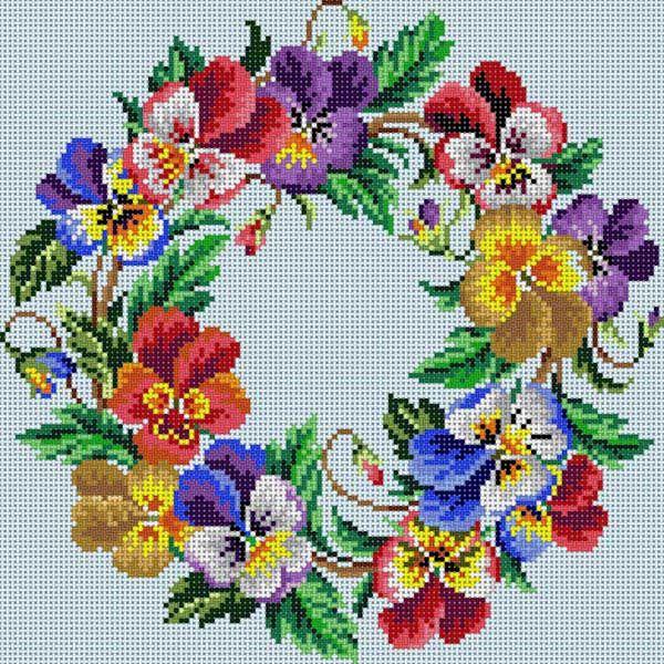 Pansy Wreath | Handwerk | Pinterest | Stiefmütterchen ...
