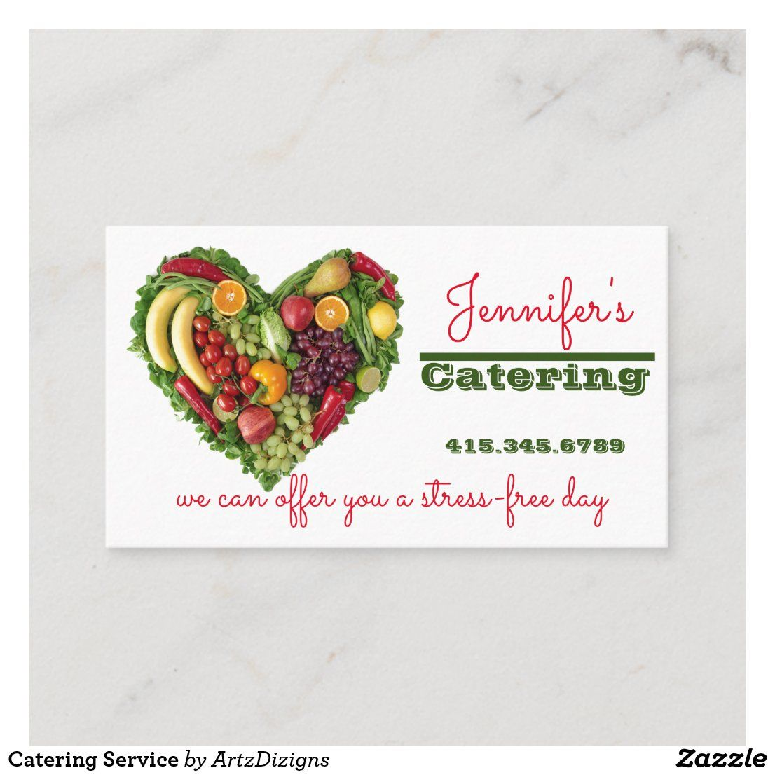 Catering Service Business Card   Zazzle.com