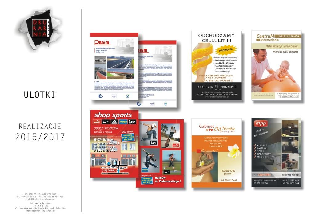 Portfolio Reklamy Drukarnia Arek 6 1projektowanie Graficzne Wizualizacja Drukarnia Minsk Mazowiecki Reklama Projekt Graficzny Logo Magazine Rack Shopping