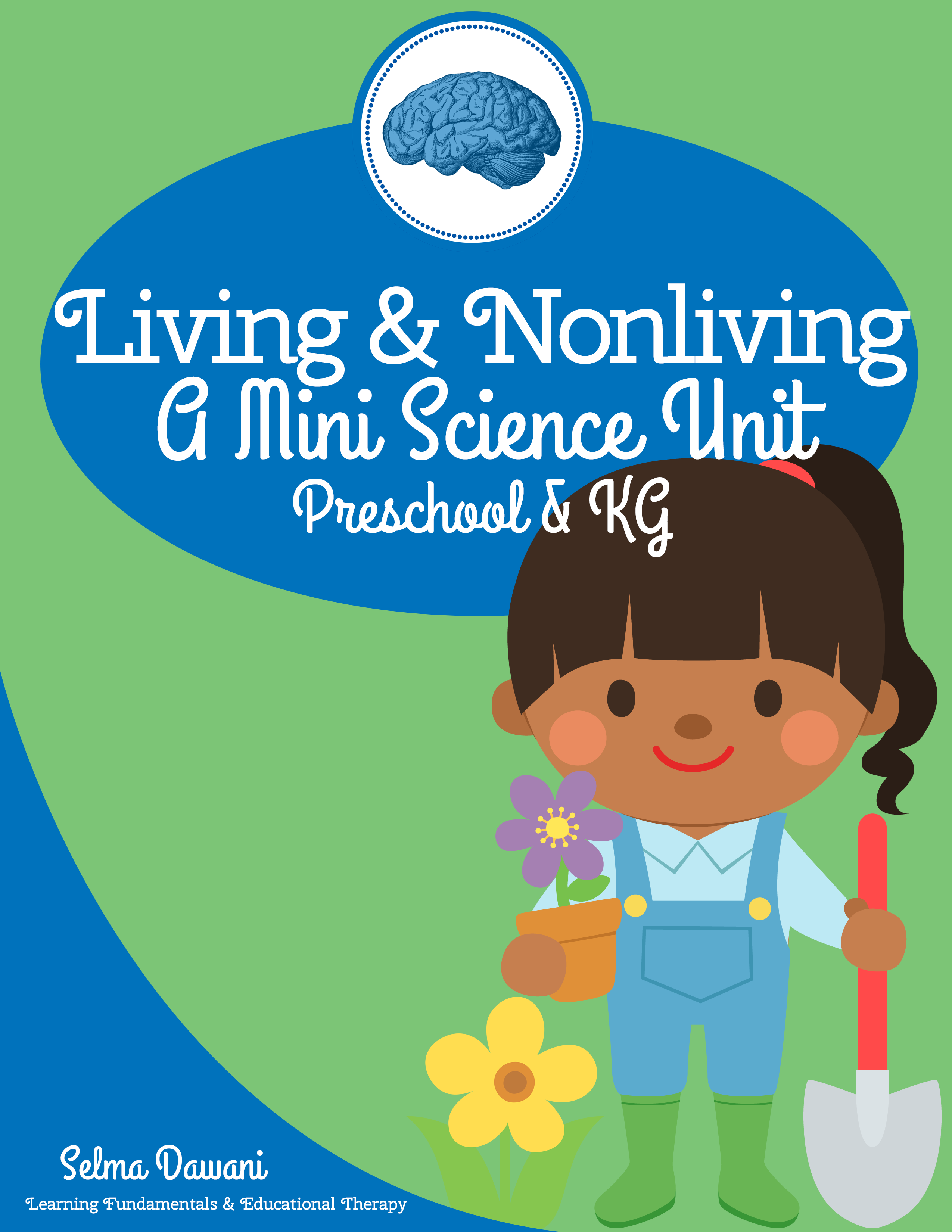 $3.50 Nonliving living mini science unit for preschool and KG: Posters,  mini reader,