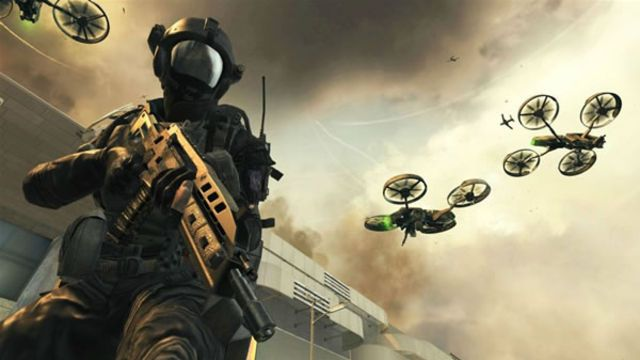 Black Ops 2 Screenshot Of Soldier And Flying Robot Pre Order Your Copy Of Black Ops 2 Right Now Amzn To Iqh Call Of Duty Black Ops Call Of Duty Black Ops